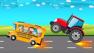Dinoco Super Farm Tractor Vehicles - Construction Vehicles for Kids - Cartoon Video For Children