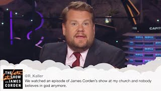 Why Is James Corden Doing Mean Tweets & Thank You Notes?