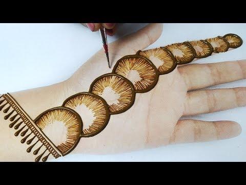 सूंदर मेहँदी डिज़ाइन लगाना सीखे - New Shaded Mehndi Design on hands Step by Step