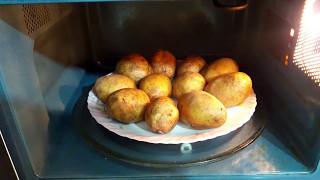 Картошка в микроволновке. Готовим картошку быстро.