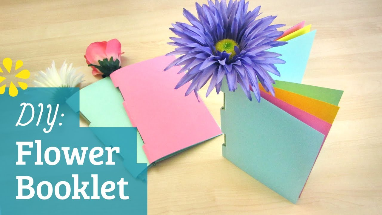 DIY Flower Booklet Sea Lemon YouTube