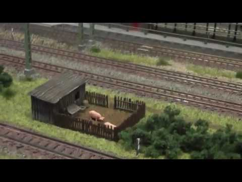 Spur N Layout BR41 with self unloading coal wagons