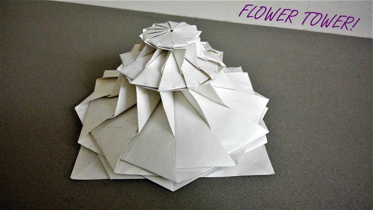 Origami time lapse flower tower chris k palmer youtube origami time lapse flower tower chris k palmer mightylinksfo