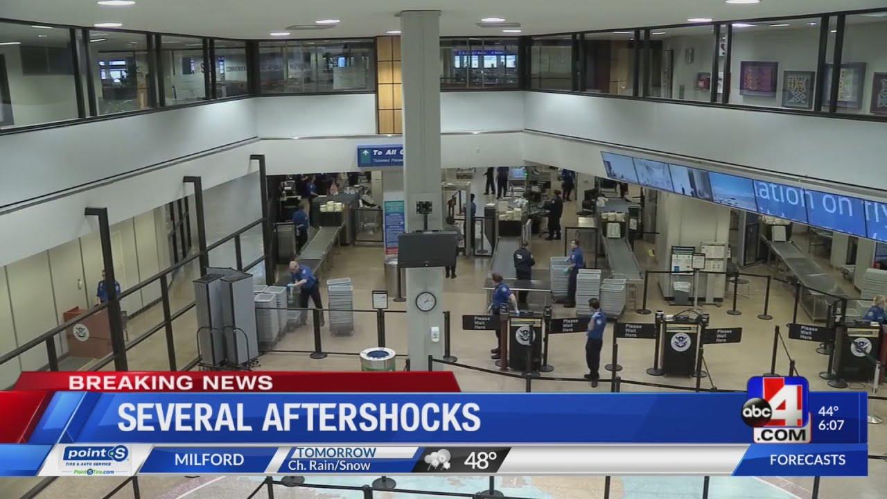 5.7 magnitude earthquake impacts SLC airport