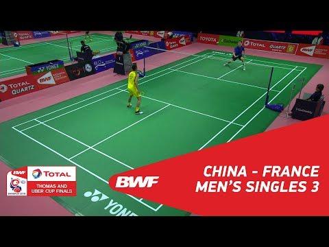 Thomas Cup | MS3 | LIN Dan (CHN) vs Arnaud MERKLE (FRA) | BWF 2018