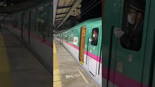 4107B東北新幹線はやぶさ107号盛岡行東京駅後部視点