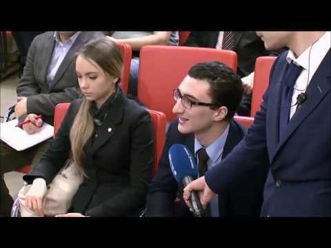 مقطع مؤتمر بمناسبة ذكرى العام الخامس والثمانون لأكاديمية الدبلوماسية التابعة لوزارة الخارجية الروسية