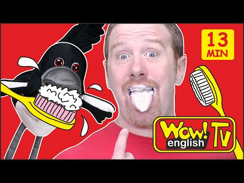 Wake up, Brush your Teeth and Johny, Johny Stories for Kids from Steve and Maggie | Wow English TV