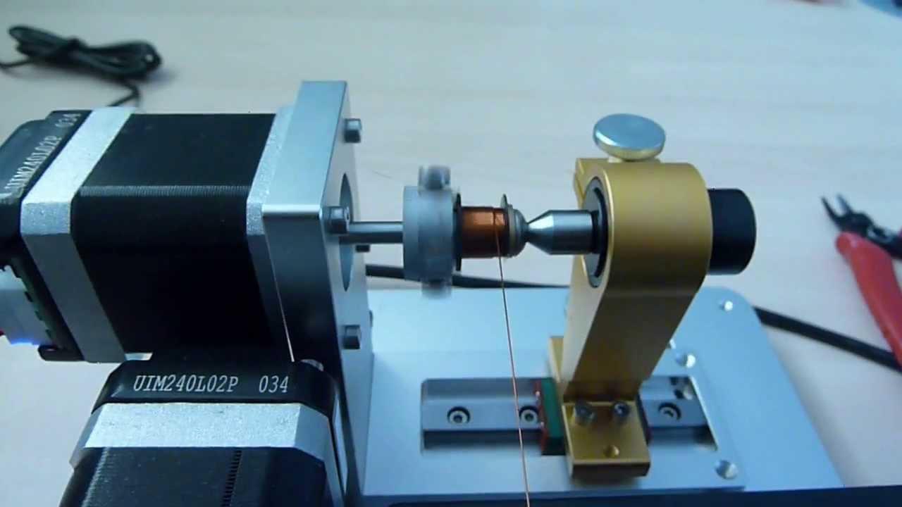Testing RM8 bobbin on Mini Coil Winder - YouTube