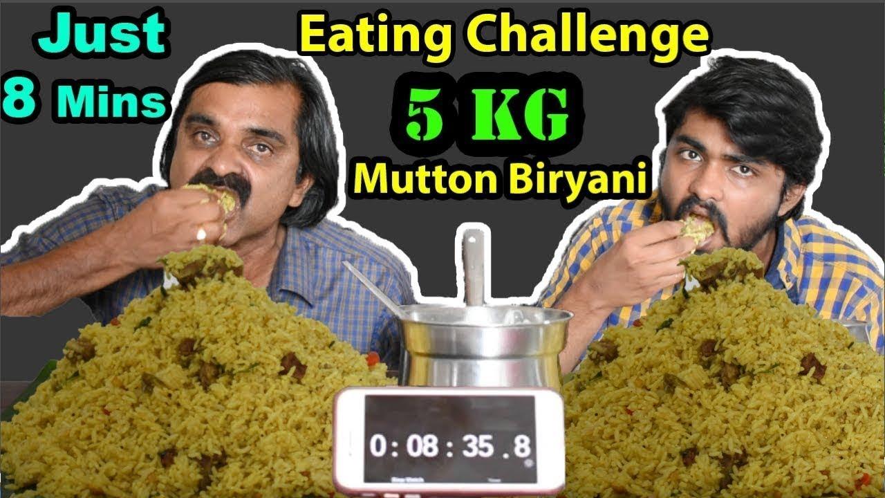 5 KG MUTTON BIRYANI EATING CHALLENGE IN 8 Minutes ! Biryani Eating Competition   Food Challenge  