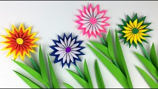 Paper Flowers | Paper Flowers Step By Step | Paper Craft | Very Easy And Beautiful Paper Flowers