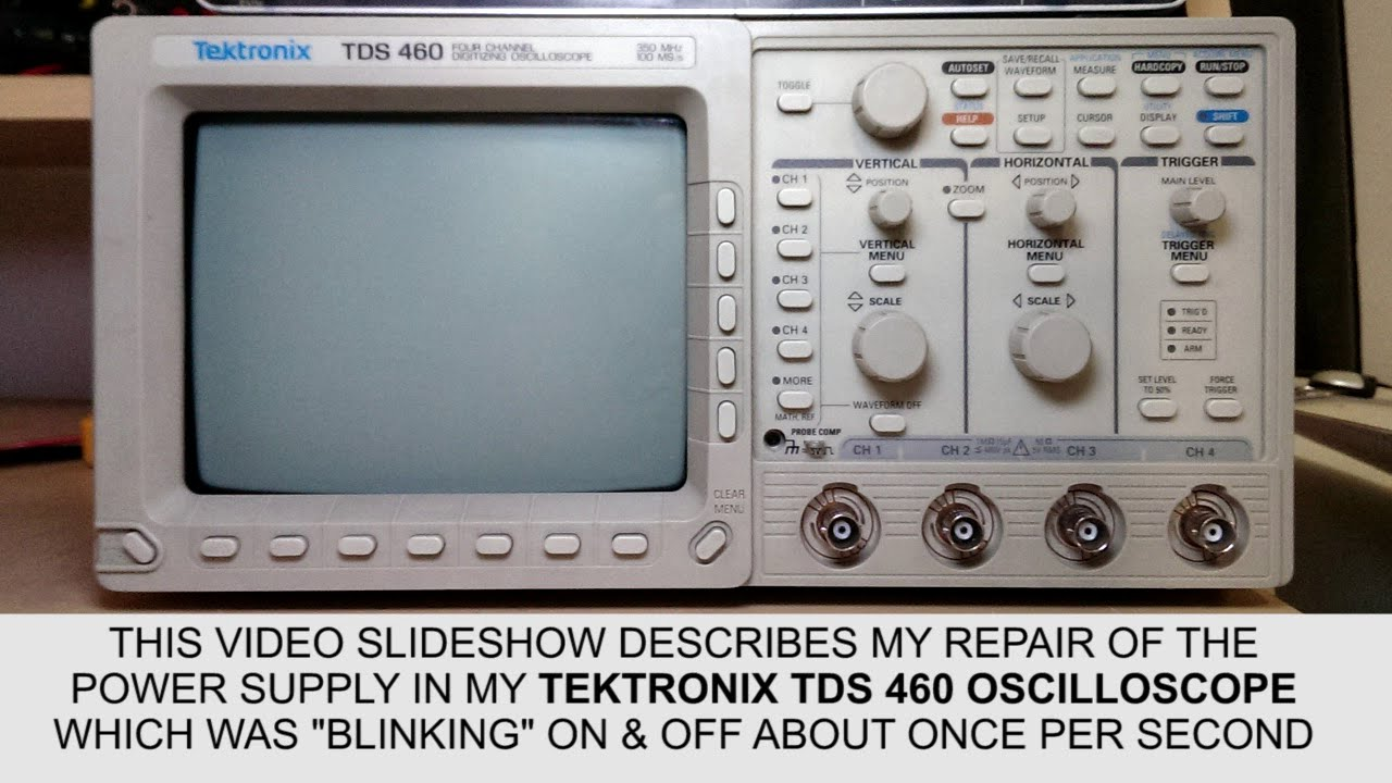 Tektronix Tds-460  400 Series  Oscilloscope Power Supply Repair