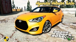 gta 5 crash test hyundai veloster turbo