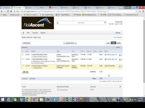 SpringAhead Timekeeping Software Demo - YouTube