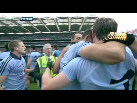 Stephen Cluxton winning point and after match celebrations Dublin v Kerry All Ireland Final 2011