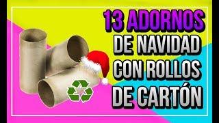 13 ADORNOS DE NAVIDAD CON ROLLO DE CARTON | Adornos de navidad Goma Eva Fáciles | Adornos navideños