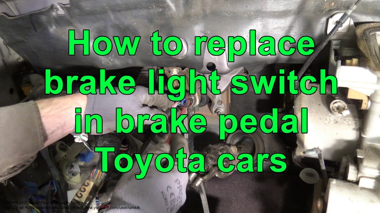 How To Replace Brake Light Switch In Brake Pedal Toyota Cars Youtube