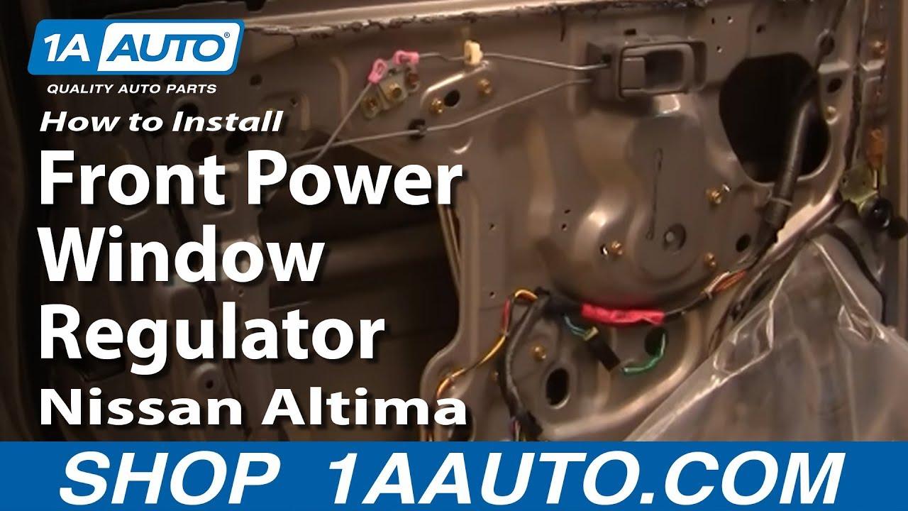Nissan Altima: Front passenger's power windowswitch