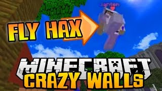 "Minecraft SOLO CRAZY WALLS #1 ""DEFEATING A FLYING HACKER"""