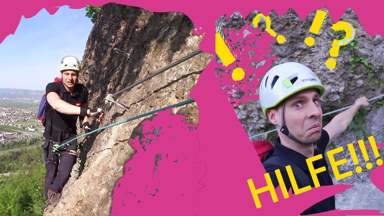 Klettersteig Känzele : Klettern extrem u abbruch am klettersteig känzele in bregenz youtube