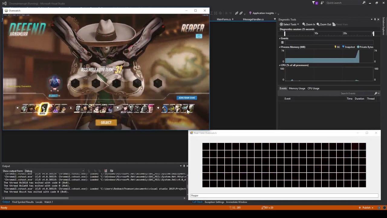 Using Razer Chroma to Access Overwatch - Nicholas Thomson