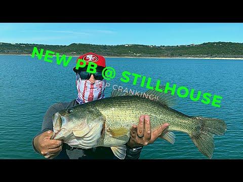 NEW PB BASS! ( Stillhouse Lake ) Bass Fishing!