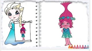 How to Draw Poppy from Trolls Movie step by step Cute and Easy