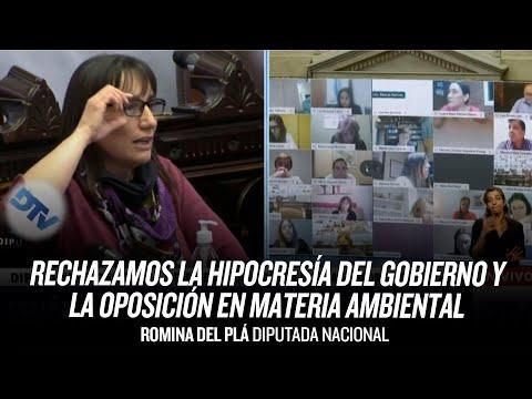 """""""Rechazamos la hipocresía del gobierno y la oposición en materia ambiental"""" // Romina Del Plá"""