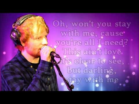 Thumbnail: Ed Sheeran - Stay With Me (lyrics)