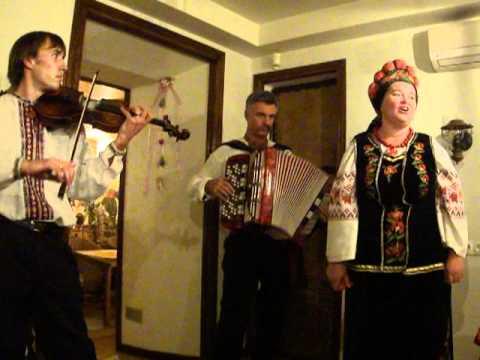 Singing at Ukrainian Restaurant, Kiev, Traditional