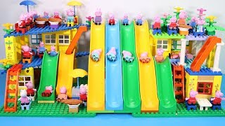 Peppa Pig Lego House Toys For Kids - Lego House With Water Slide Creations Toys #11