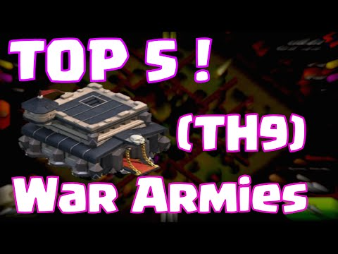 Clash Of Clans Best Townhall 9 Attack Strategies | Top 5 Clash Of Clans Clan Wars Armies