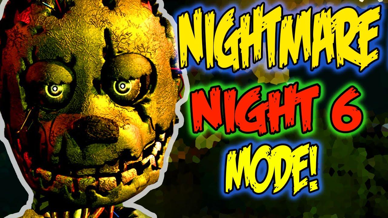 FNAF 3 - NIGHT 6 ENDING!!! NIGHTMARE MODE WALKTHROUGH ...