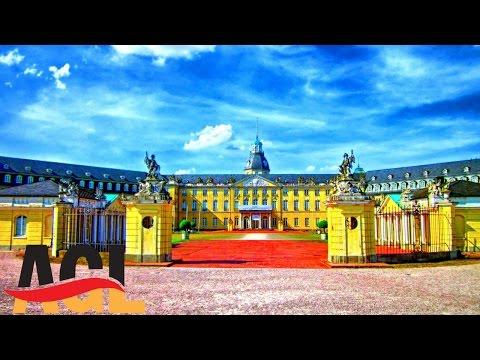 Karlsruhe in der Vogelperspektive für Deutschlerner | klare Aussprache, Drohnenvideo [learn German]