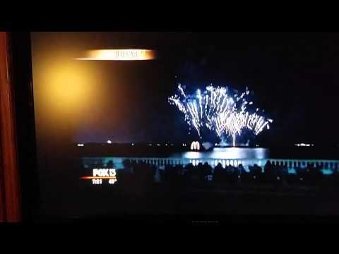 Tampa Gasparilla fireworks