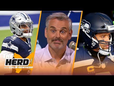 Russ Wilson is finally putting 'heat on Pete'; talks Dak & Dallas options — Colin | NFL | THE HERD