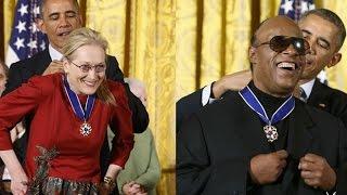 Stevie Wonder and Meryl Streep receive top US honour