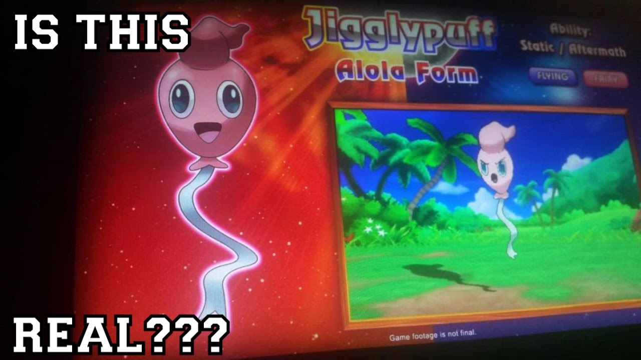 Leak Photo Of Alola Form Jigglypuff Can This Be Real Or Fake Pok 233 Mon Sun And Moon Discussion