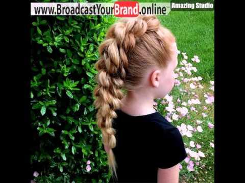Braided Mohawk For Little Girls Youtube