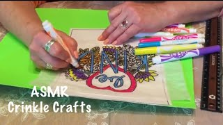ASMR Crafts/Writing/Drawing/Coloring on crinkly paper. (No talking)