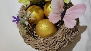 황금달걀 부활계란바구니 만들기 1