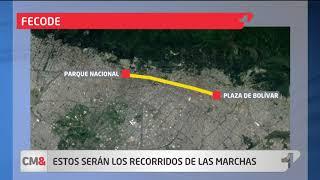 Estos serán los recorridos de las marchas en Bogotá