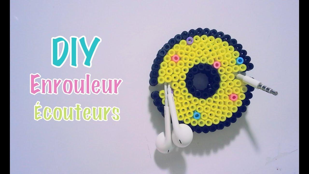 diy faire un enrouleur pour couteurs donut avec des perles hama youtube. Black Bedroom Furniture Sets. Home Design Ideas