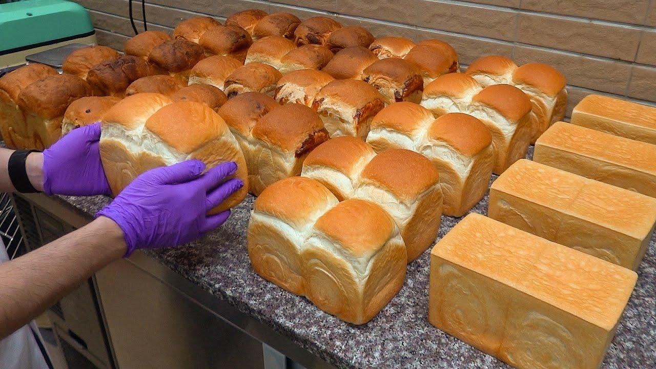Milk Bread Making in Taiwan / 鮮奶吐司製作 - Taiwanese Food