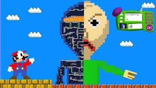 BALDI'S BASICS VS SUPER MARIO & SONIC! Game animation (Maze Baldi)   Pacman Parody