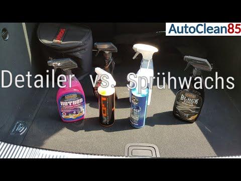 Autopflege-Tutorial / Unterschied zwischen einem Detailer und Sprühwachs / Detailer vs. Sprühwachs