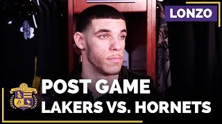 Lonzo Ball After His First Game Back Since Shoulder Injury