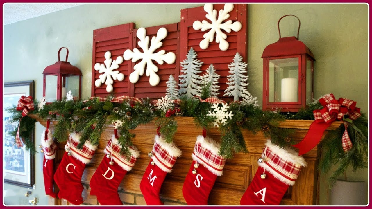 2017 christmas mantel decorations 2