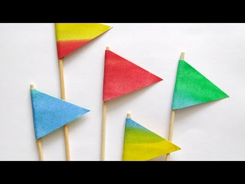 Craft Decorative Paper Flags - DIY Crafts - Guidecentral