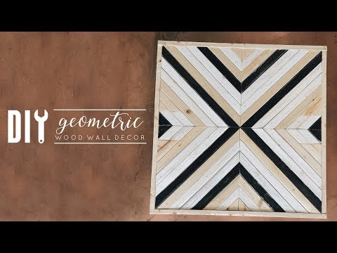 DIY Geometric Wood Wall Decor